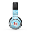 The Abstract Blue & White Waves Skin for the Beats by Dre Pro Headphones
