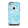 The Abstract Blue & White Waves Skin for the iPhone 5c OtterBox Commuter Case