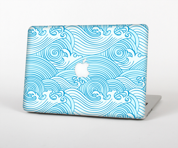 The Abstract Blue & White Waves for the Apple MacBook Pro Retina 15""