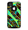The Abstract Blue & Yellow Vector Feather Pattern Skin for the iPhone 4-4s OtterBox Commuter Case