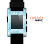 The Abstract Blue & White Waves Skin for the Pebble SmartWatch