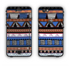 The Abstract Blue and Brown Shaped Aztec Apple iPhone 6 LifeProof Nuud Case Skin Set