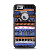 The Abstract Blue and Brown Shaped Aztec Apple iPhone 6 Otterbox Defender Case Skin Set
