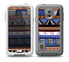 The Abstract Blue and Brown Shaped Aztec Skin Samsung Galaxy S5 frē LifeProof Case