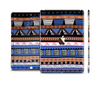 The Abstract Blue and Brown Shaped Aztec Skin Set for the Apple iPad Air 2