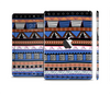 The Abstract Blue and Brown Shaped Aztec Full Body Skin Set for the Apple iPad Mini 2