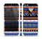 The Abstract Blue and Brown Shaped Aztec Skin Set for the Apple iPhone 5