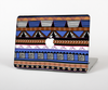 The Abstract Blue and Brown Shaped Aztec Skin for the Apple MacBook Pro 13""