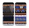 The Abstract Blue and Brown Shaped Aztec Skin for the Apple iPhone 4-4s