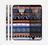 The Abstract Blue and Brown Shaped Aztec Skin for the Apple iPhone 6 Plus