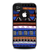 The Abstract Blue and Brown Shaped Aztec Skin for the iPhone 4-4s OtterBox Commuter Case