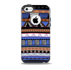 The Abstract Blue and Brown Shaped Aztec Skin for the iPhone 5c OtterBox Commuter Case