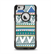 The Abstract Blue and Green Triangle Aztec Apple iPhone 6 Otterbox Commuter Case Skin Set