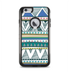The Abstract Blue and Green Triangle Aztec Apple iPhone 6 Plus Otterbox Commuter Case Skin Set