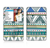 The Abstract Blue and Green Triangle Aztec Skin For The Apple iPod Classic