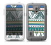 The Abstract Blue and Green Triangle Aztec Skin for the Samsung Galaxy S5 frē LifeProof Case