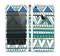 The Abstract Blue and Green Triangle Aztec Skin Set for the Apple iPhone 5