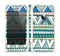 The Abstract Blue and Green Triangle Aztec Skin Set for the Apple iPhone 5s