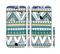The Abstract Blue and Green Triangle Aztec Sectioned Skin Series for the Apple iPhone 6 Plus