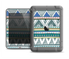 The Abstract Blue and Green Triangle Aztec Apple iPad Mini LifeProof Fre Case Skin Set