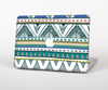 The Abstract Blue and Green Triangle Aztec Skin for the Apple MacBook Pro Retina 15""