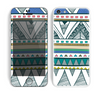 The Abstract Blue and Green Triangle Aztec Skin for the Apple iPhone 5c