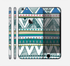 The Abstract Blue and Green Triangle Aztec Skin for the Apple iPhone 6 Plus