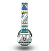 The Abstract Blue and Green Triangle Aztec Skin for the Beats by Dre Original Solo-Solo HD Headphones