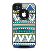 The Abstract Blue and Green Triangle Aztec Skin for the iPhone 4-4s OtterBox Commuter Case