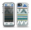 The Abstract Blue and Green Triangle Aztec Skin for the iPhone 5-5s OtterBox Preserver WaterProof Case