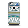 The Abstract Blue and Green Triangle Aztec Skin for the iPhone 5c OtterBox Commuter Case