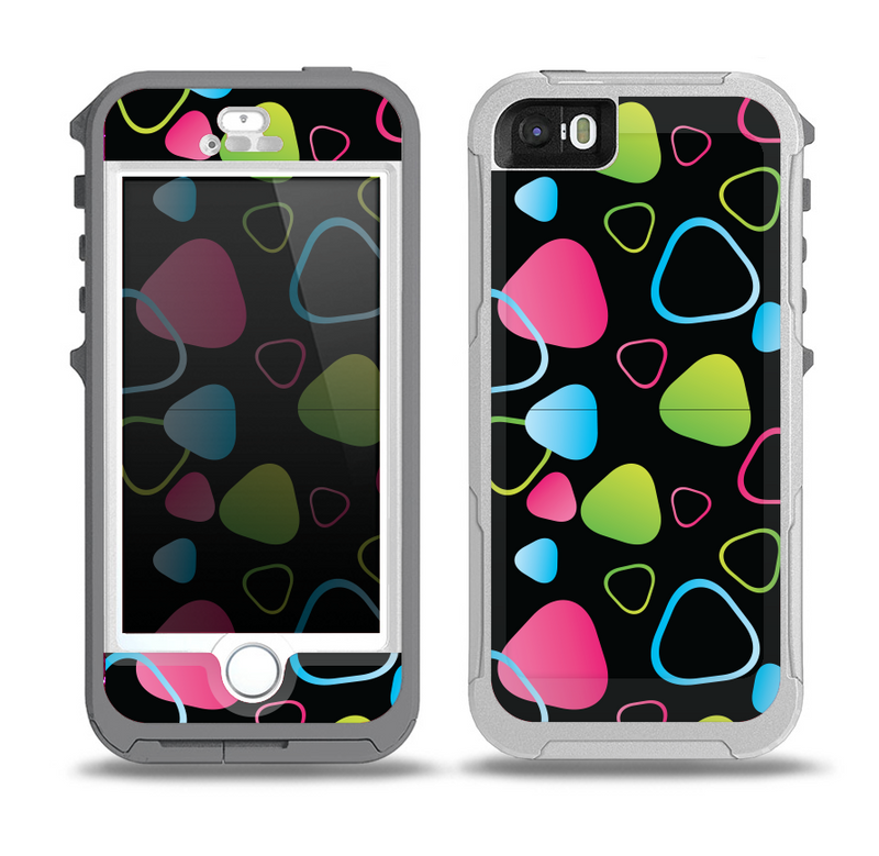 The Abstract Bright Colored Picks Skin for the iPhone 5-5s OtterBox Preserver WaterProof Case