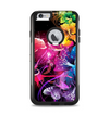 The Abstract Bright Neon Floral Apple iPhone 6 Plus Otterbox Commuter Case Skin Set