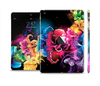 The Abstract Bright Neon Floral Full Body Skin Set for the Apple iPad Mini 2