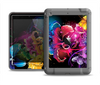 The Abstract Bright Neon Floral Apple iPad Mini LifeProof Nuud Case Skin Set