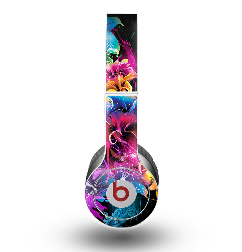 The Abstract Bright Neon Floral Skin for the Beats by Dre Original Solo-Solo HD Headphones