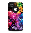 The Abstract Bright Neon Floral Skin for the iPhone 4-4s OtterBox Commuter Case