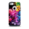 The Abstract Bright Neon Floral Skin for the iPhone 5c OtterBox Commuter Case