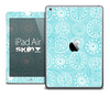 The Abstract Circle Blues Skin for the iPad Air