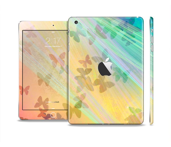 The Abstract Color Butterfly Shadows Full Body Skin Set for the Apple iPad Mini 2