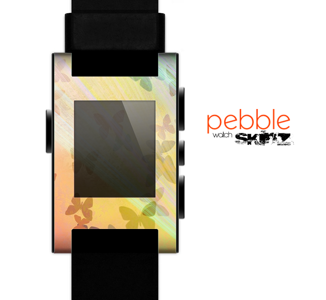 The Abstract Color Butterfly Shadows Skin for the Pebble SmartWatch