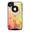 The Abstract Color Butterfly Shadows Skin for the iPhone 4-4s OtterBox Commuter Case