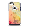 The Abstract Color Butterfly Shadows Skin for the iPhone 5c OtterBox Commuter Case