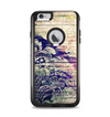 The Abstract Color Floral Painted Wood Planks Apple iPhone 6 Plus Otterbox Commuter Case Skin Set