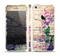 The Abstract Color Floral Painted Wood Planks Skin Set for the Apple iPhone 5s