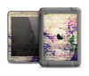 The Abstract Color Floral Painted Wood Planks Apple iPad Mini LifeProof Fre Case Skin Set
