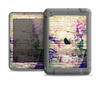 The Abstract Color Floral Painted Wood Planks Apple iPad Mini LifeProof Nuud Case Skin Set