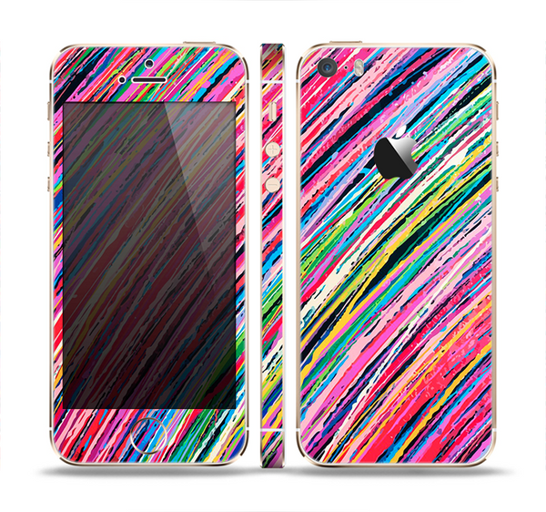 The Abstract Color Strokes Skin Set for the Apple iPhone 5s