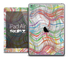 The Abstract Color Thin Swirls Skin for the iPad Air