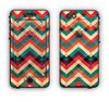 The Abstract Colorful Chevron Apple iPhone 6 LifeProof Nuud Case Skin Set